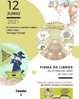 Firma de libros en la Feria del Libro de Valladolid