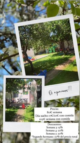 Campamento urbano en verano. Centro Infantil Mi Huerto. Valladolid.