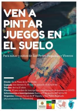 """""""Pintar juegos en el suelo"""" en San Pedro Regalado y Viveros"""