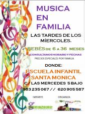 """Música en Familia"" en la Escuela Infantil Santa Mónica 2019-2020"