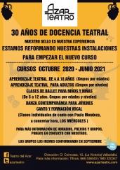 Cursos Artísticos Azar Teatro 2020-2021