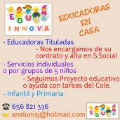 """EDUCA INNOVA, Educadoras en casa"""