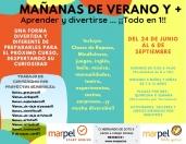 """""""Mañanas de Verano y +"""" con Marpel"""