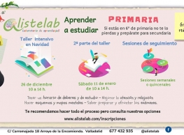 """""""Taller de técnicas de estudios para primaria"""" en Alistelab"""