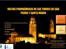 Visitas panorámicas desde las torres de las Iglesias de San Pedro y Santa María. Alaejos (Valladolid).
