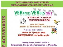 Actividades y juegos de Educación Ambiental en Castronuño
