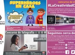 """Concursos y actividades: """"Valladolid se queda en casa, pero la creatividad no descansa"""""""