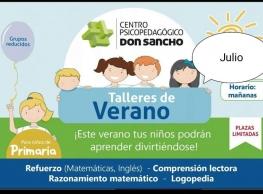 """""""Talleres de Verano"""" Centro Psicopegógico Don Sancho"""