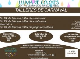 Talleres de Carnaval en Lluvia de Colores