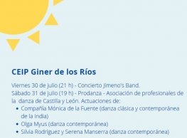 """Programa """"Patios de verano""""."""