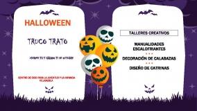 """""""Halloween"""" en el Centro de ocio para la juventud y la infancia de Villanubla"""