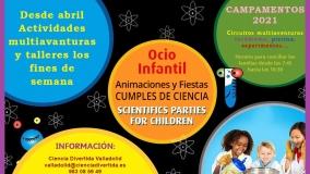 Actividades multiaventuras y talleres con Ciencia Divertida