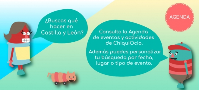 Agenda de actividades y eventos para familias con niños.