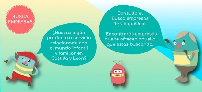 Empresas, productos y servicios para familias con niños en Castilla y León.